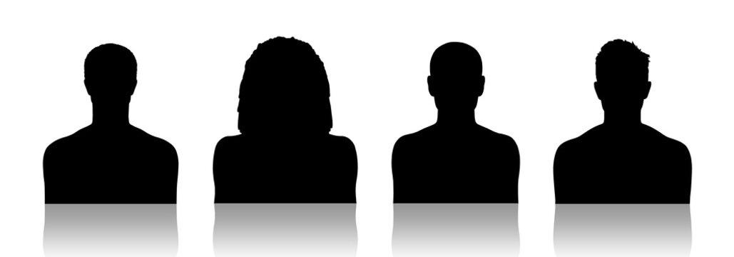 men id silhouette portraits set 1