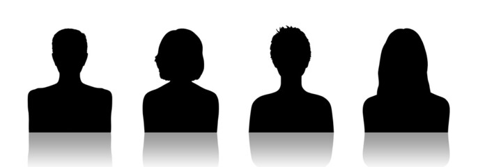 women id silhouette portraits set 2