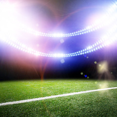Image of stadium in lights and flashes