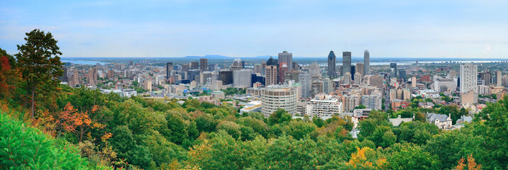 Fototapete - Montreal day view panorama