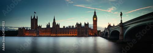Wall mural London at dusk