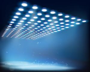 Light beams. Vector illustration.