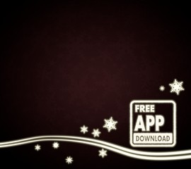 a free app download design red christmas background