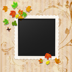 Retro vintage photo frame