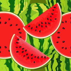 Seamless texture of juicy watermelon