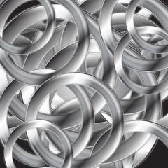 Abstract metallic circles vector design