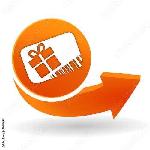 Carte Cado Web.Carte Cadeau Sur Bouton Web Orange Stock Image And Royalty