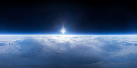 Near Space photography - 20km above ground / real panorama