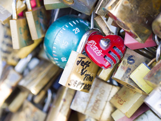 The thousands of locks of loving couples symbolize love forever.