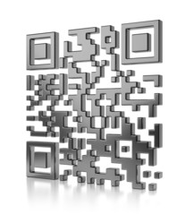 Abstract illustration of QR code