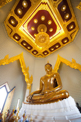 Golden Buddha Statue at Wat Traimit in Bangkok