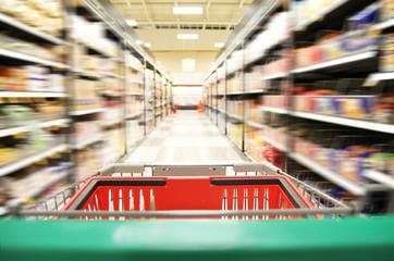 a supermarket shopping center