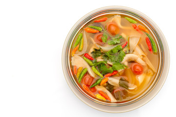 Vegetarian Thai Food mushroom tom yum soup