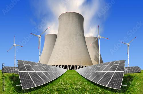 nuclear power and solar power