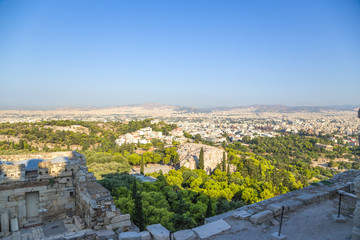 Athens. View of Areopagus from Acropolis