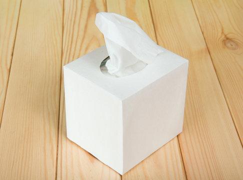 White box with napkins