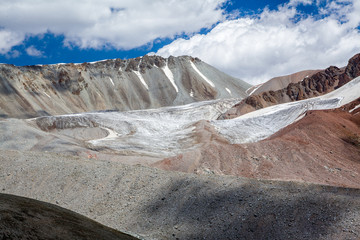 Fototapete - Landscape of glacier in Tien Shan Mountains