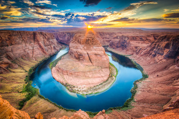 Foto auf Leinwand Arizona Horseshoe Bend, Grand Canyon