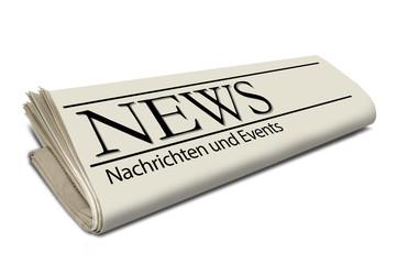 Zeitungsrolle mit News