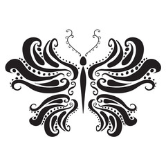 abstract silhouette of a butterfly. Vector illustration