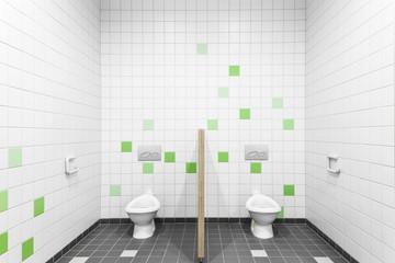 zwei kleine Toiletten