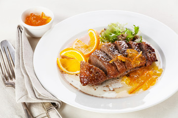 Roasted Duck Breast with orange sauce