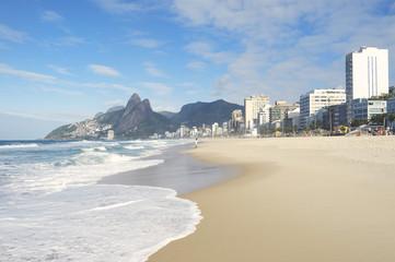Rio de Janeiro Ipanema Beach Skyline Brazil