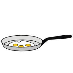 vector drawing of a pan