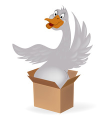 Goose in a box