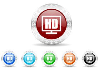 hd display icon vector set