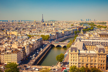 Aerial view of Paris Fototapete