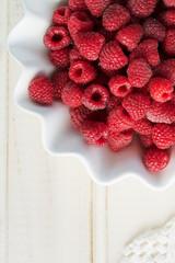 Fresh raspberry in bowl