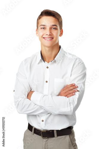 Человек в белой рубашке