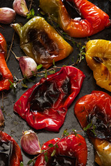 Grilled bell pepper with garlic and herbs