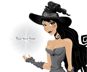 witch invites to a halloween party