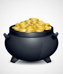 St Patricks Day pot of gold