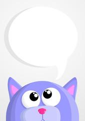 Cute cartoon cat with speech bubble