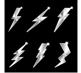 Metal lightning. Vector