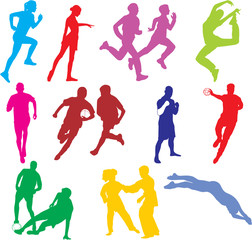 Wall Mural - SPORTS INDIVIDUELS COLORS