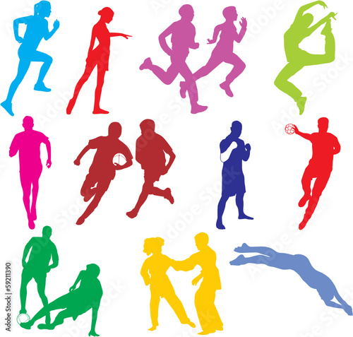 Wall mural SPORTS INDIVIDUELS COLORS