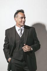 Elegant smiling man portrait.