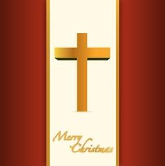 christian or catholic merry christmas card.