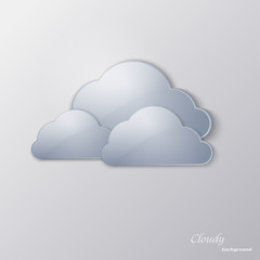 Glass clouds on a gray background
