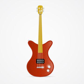Bass Guitar Illustration