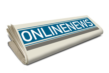 Zeitungsrolle mit Onlinenews