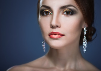 beauty woman eith bright make-up