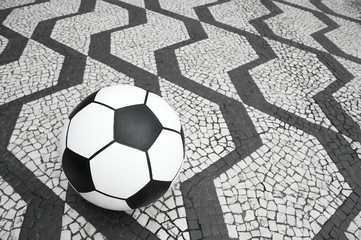 Football Soccer Ball Sao Paulo Brazil Sidewalk
