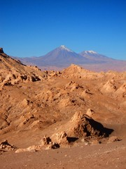 desert panorama in the mountains of Chile san Pedro de atacama