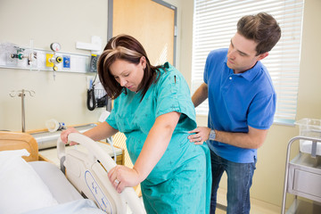Woman Having Contraction in Hosptial