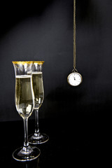champagne and watch